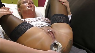 Awesome mature ass sex games on the sofa