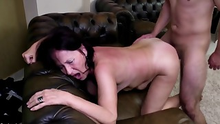 Sensual mature brunette needs a long dick