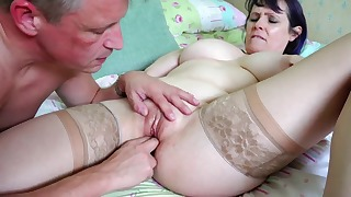 Sexy Russian mature fuck in the bed