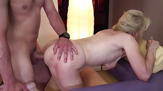 Exciting blonde mature screwed from behind
