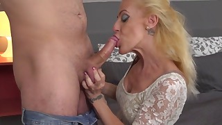 Good-looking mature Russian blonde fucked good