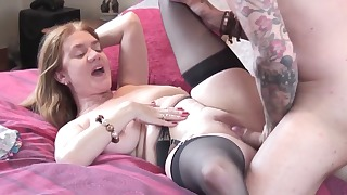 Lovely mature hottie fucked from behind on cam
