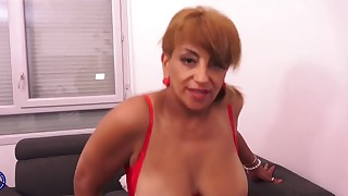 Sweet glamorous busty mature fucked on cam
