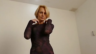 Slim blonde is soloing with a sex toy