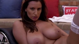 Adorable big-boobed mature shows her boobs
