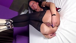 Sensual mature solo with a glamorous doll