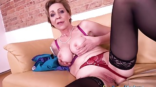 Hot mature solo action with a nice female